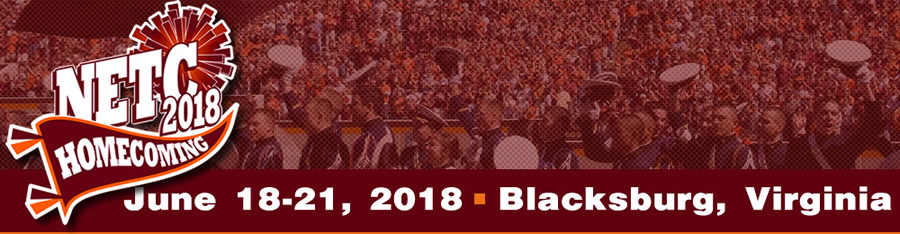 LOGO: NETC2018 - Homecoming - June 18-21, 2018 - Blacksburg, Virginia