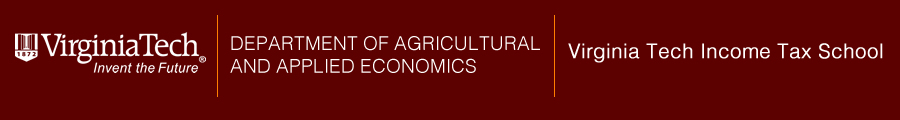 Logo - Virginia Tech -Invent the Future - Department of Agricultural and Applied Economics - Virginia Tech Income Tax School